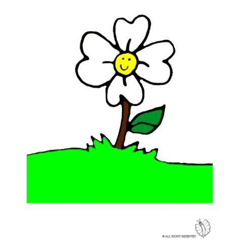 disegni di fiori a colori disegno di fiore nel prato a colori per bambini