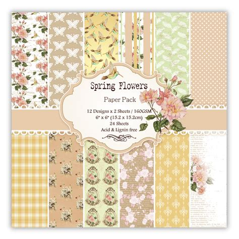 6inch Scrapbook Paper 02a 1 diy scrapbooking kit 6inch flowers pad papers