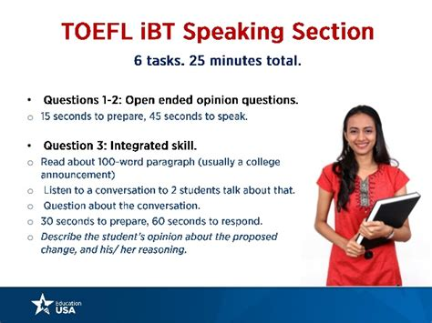 toefl speaking section sles toefl gre gmat 2015