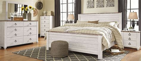 whitewash bedroom furniture signature design by ashley willowton whitewash panel