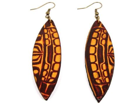 Handmade Leather Earrings - handmade quot haida quot leather earrings marakesh leather