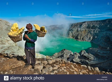 indonesia java east java province mining sulfur by