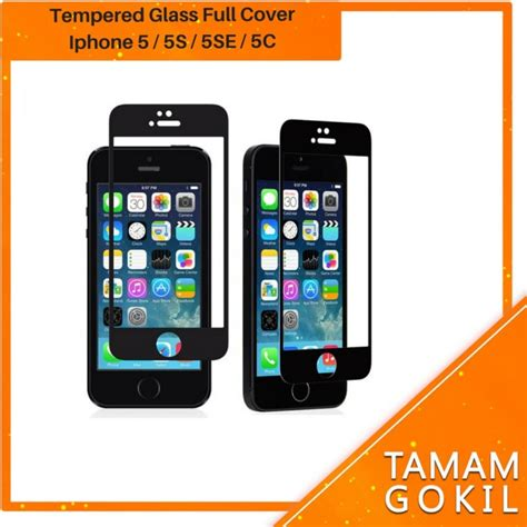 jual tempered glass iphone   se  full cover