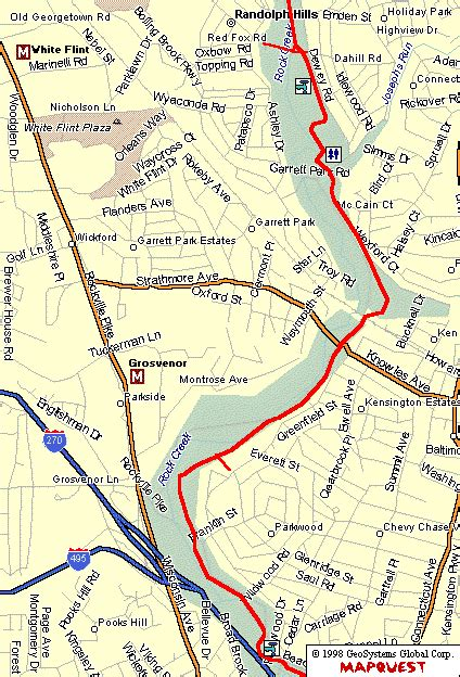 maryland bicycle map the rock creek trail maryland southern central