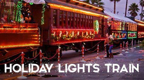 santa cruz holiday lights train santa cruz beach boardwalk holiday train rides