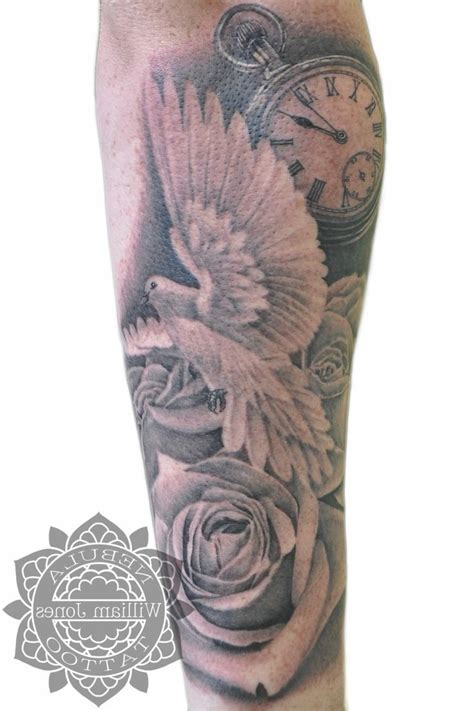 men rose tattoo sleeve designs for half sleeve tattoos