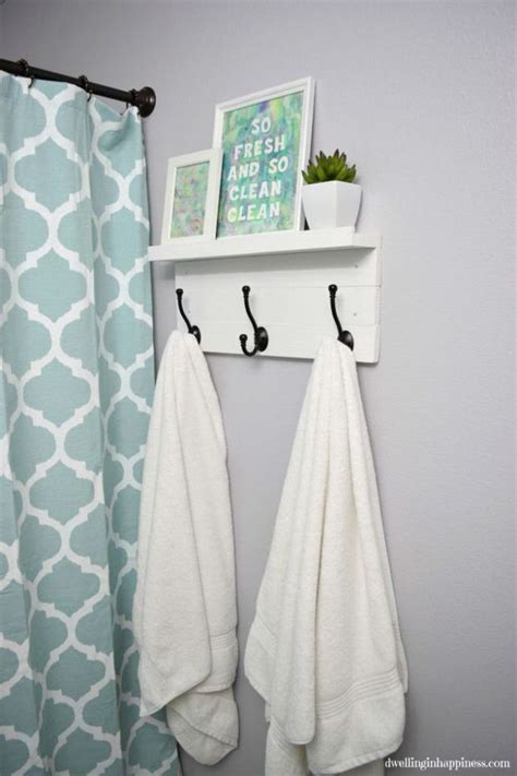 bathroom towel hook ideas 10 clever diy towel racks the budget decorator