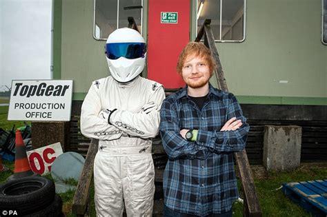 ed sheeran rig ed sheeran poses with the stig before tackling top gear