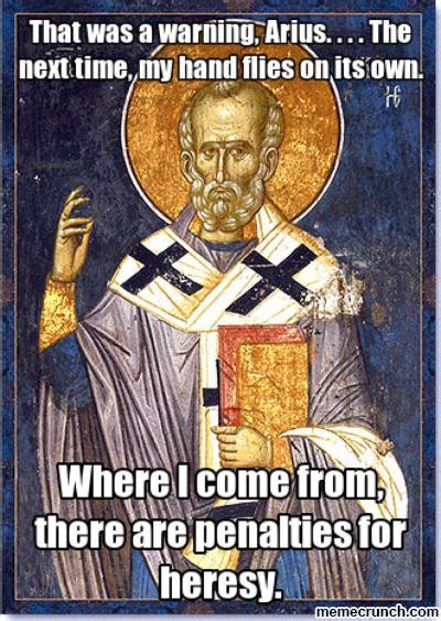 St Nicholas Meme - the irony of the christian right s protests against face