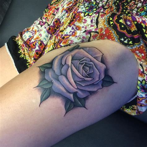 italian rose tattoo thigh best ideas gallery