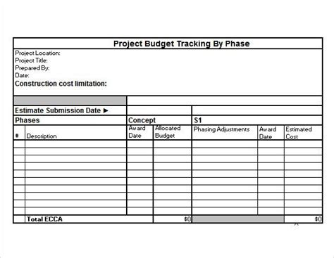 budget justification template project budget template project budget tracking excel