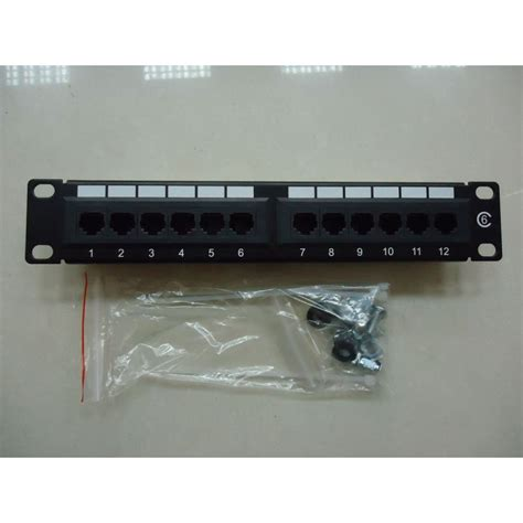 Patch Panel Rack by 12 Port Patch Panel 10 Quot Rack Mount Utp Cat 6 Dynamode Ppan