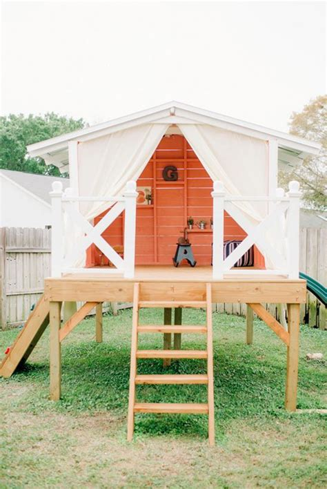 backyard playhouse 15 amazing diy backyard playhouses and treehouses