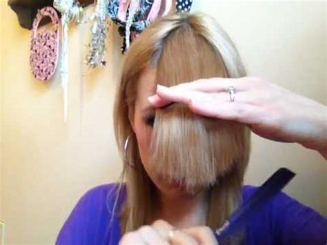 how to cut side bangs yourself how to cut perfect side swept bangs youtube