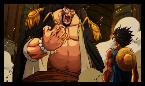 Anime One Blackbeard luffy and blackbeard by gandaresh on deviantart