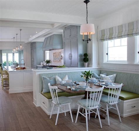 kitchen island with banquette 17 best ideas about beach house colors on pinterest