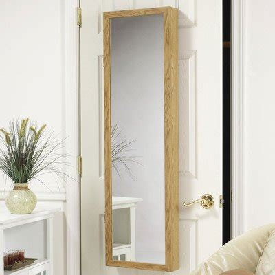 over the door jewelry armoire mirror cabinet mirrotek jewelry armoire over the door mirror cabinet oak vve3324