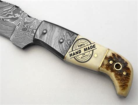 custom knife shop damascus skinner knife custom handmade damascus steel