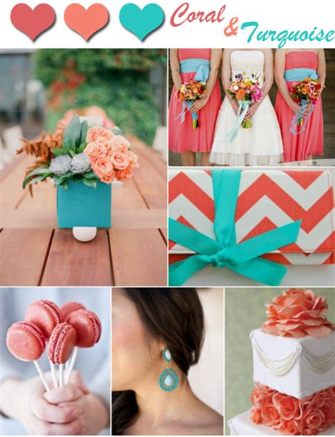 trending coral and turquoise wedding color inspirations 2014 outlandish events