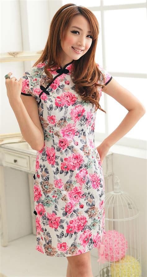 Grosir Cheongsam Babydoll Murah Pink cheongsam ds3342 pink tamochi toko baju wanita murah