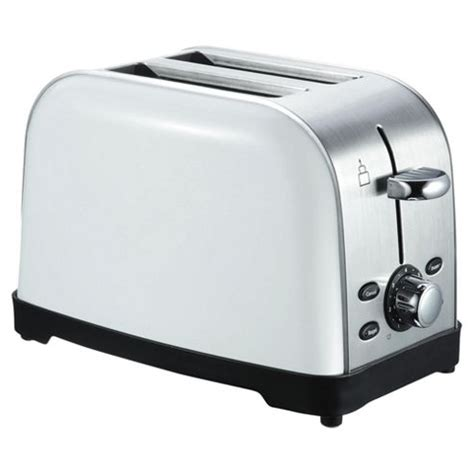 Tesco 2 Slice Toaster buy tesco 2 slice stainless steel toaster white from our