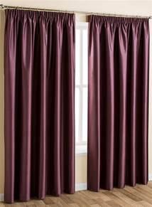 drapes accessories plum plain faux silk blackout thermal pencil pleat curtain