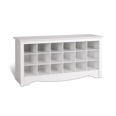 Entry Bench With Shoe Storage Prepac Entryway Shoe Storage Cubbie Bench White Wss 4824