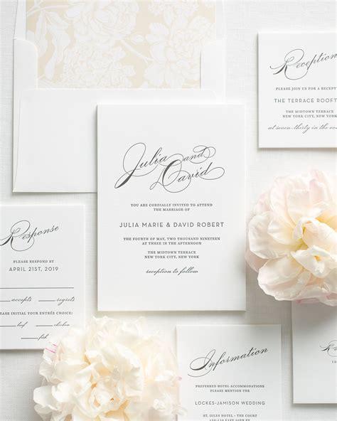 Letterpress Wedding Invitations by Vintage Glam Letterpress Wedding Invitations Letterpress