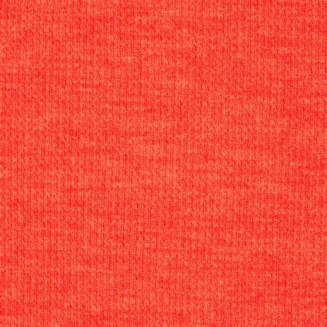knit cotton fabric cotton poly thermal knit orange discount designer