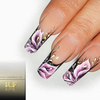 acrylic nail paint uk flower one stroke nails beautiful one stroke nail