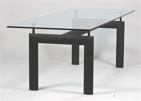 Lc6 Dining Table Lot 450 Le Corbusier Lc6 Glass Dining Table