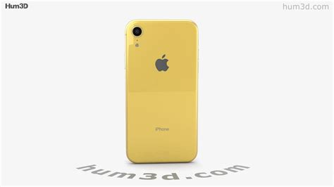 apple iphone xr yellow 3d model by hum3d