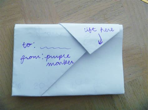 how to fold a note into a secretive envelope