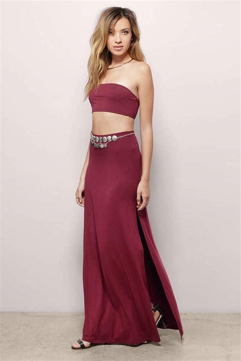 Dress Maxi Set burgundy maxi dress dress strapless dress 20 00