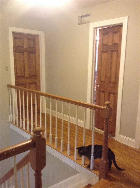 wood doors stained special walnut with white trim