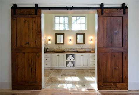 Barn Door Designs Pictures 15 Sliding Barn Doors That Bring Rustic To The Bathroom