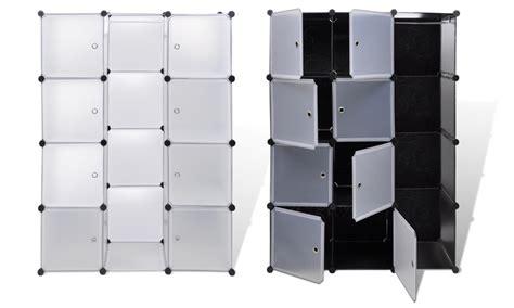 Armoire En Plastique Pour Extérieur by Armoire De Rangement Modulable Groupon Shopping