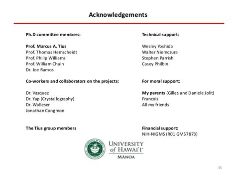 acknowledgement thesis defense phd committee