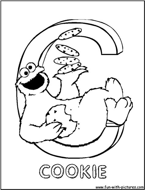C Is For Cookie Coloring Page sesamestreet c coloring page