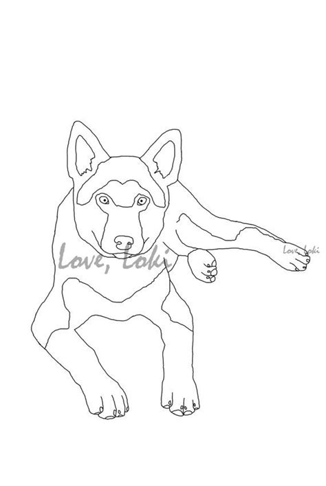 black german shepherd face coloring coloring pages