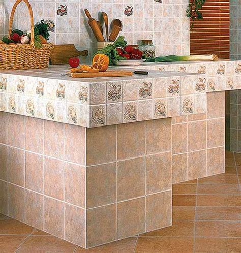 Picture Of Ceramic Tile Kitchen Countertops Designs Tile Kitchen Countertop