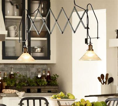 accordion dual kitchen pendant pottery barn