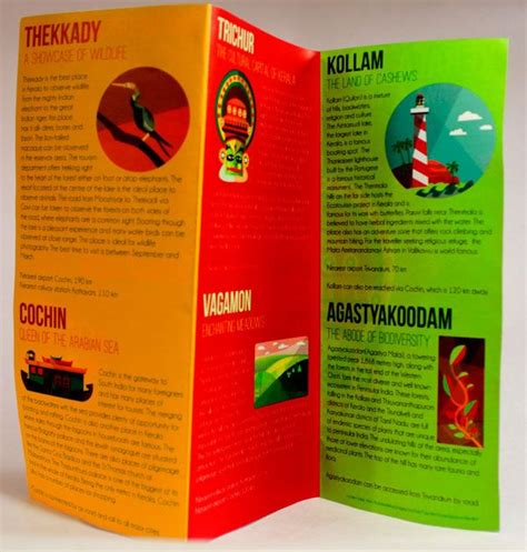 25 Really Beautiful Brochure Designs & Templates For ... Kerala Tourism Brochure