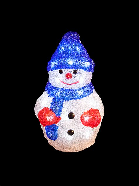 acrylic outdoor decorations light up acrylic santa snowman reindeer outdoor