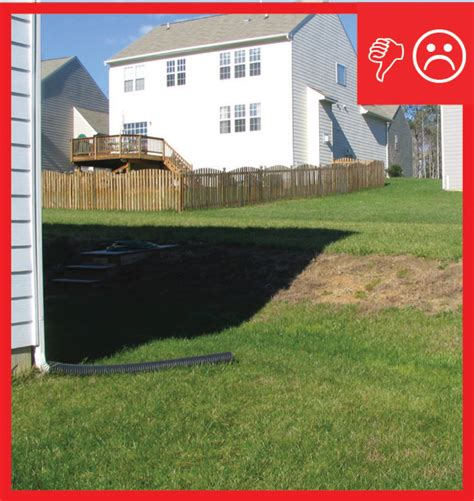 backyard slopes away from house patio slabs porch slabs walks and driveways slope away