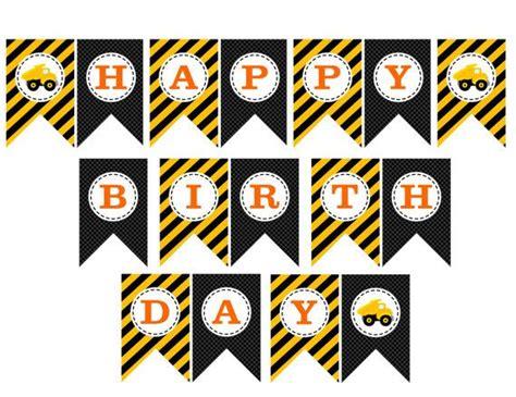 printable construction birthday banner construction birthday printable birthday banner instant