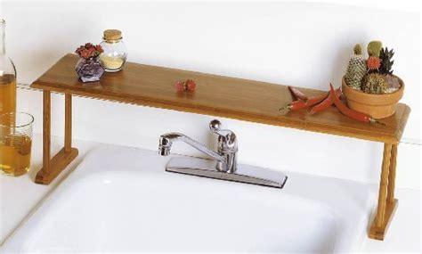 bamboo sink shelf bathroom storage organizer kitchen