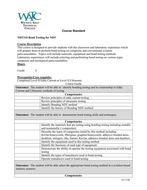 NDT116 - Bond Testing for NDT