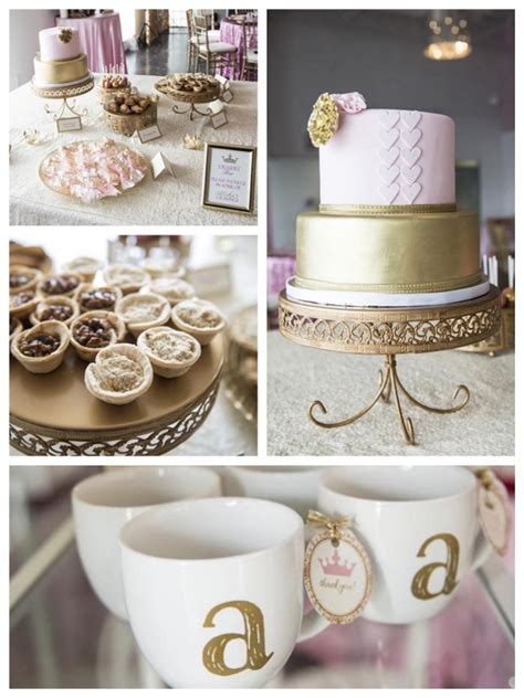 Gold Baby Shower by Royal Pink Gold Baby Shower