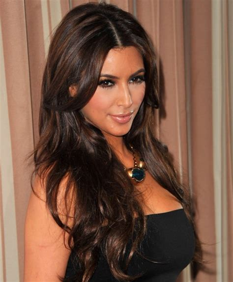 hairstyles for long hair middle parting kim kardashian hairstyles center parted hairstyles for